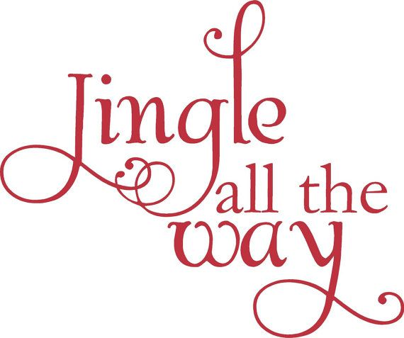 7 x 6 Jingle All The Way Christmas Decoration Vinyl Wall Letter Words Decal