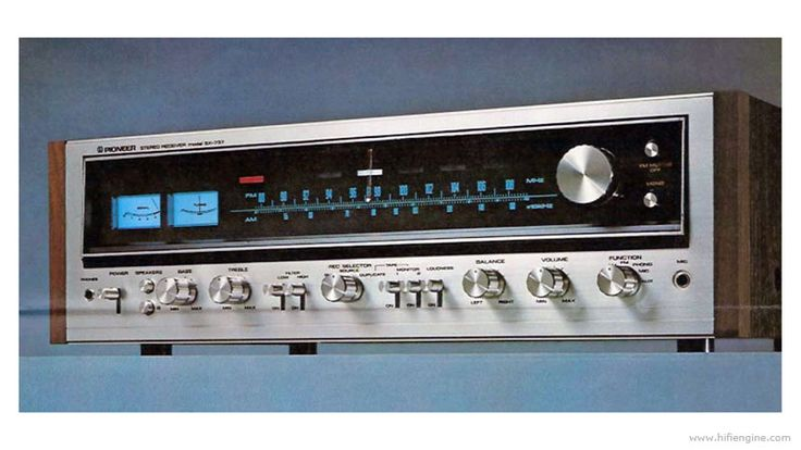 Image result for Pioneer Stereo Receiver model SX-737
