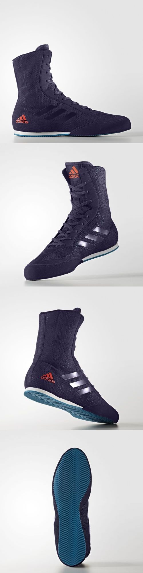 Shoes and Footwear 73989: Adidas Boxing Box Hog Plus Boxing Boots - Petrol Blue -> BUY IT NOW ONLY: $105 on eBay!