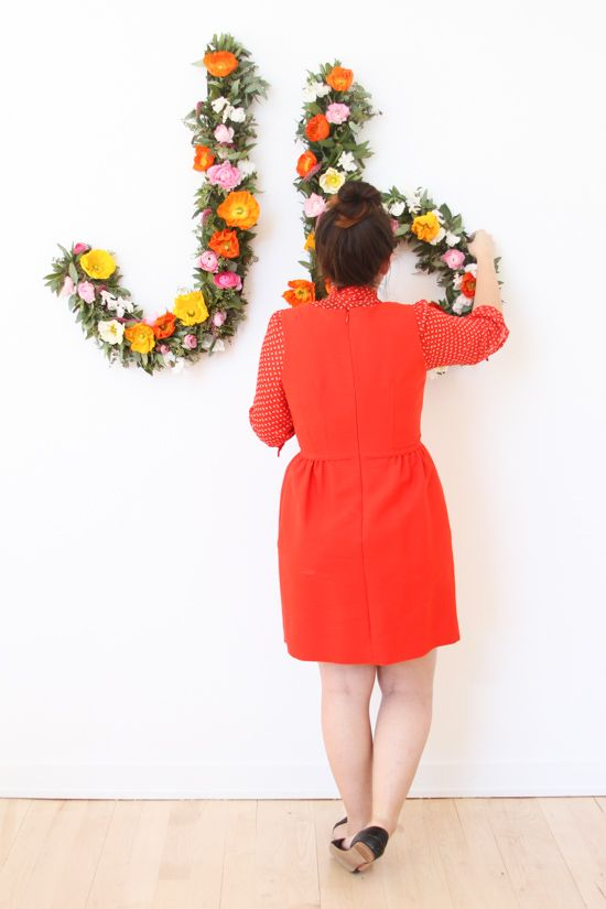 How to Make Giant Floral Typography Wall Art
