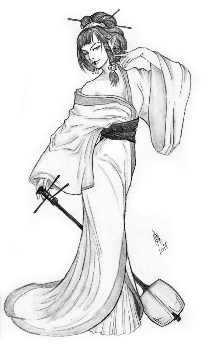 Японки картинки для срисовки, днем