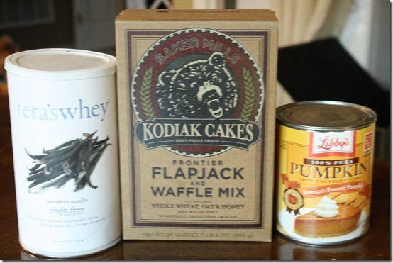three ingredient pumpkin protein pancakes. - making tomorrow morning!