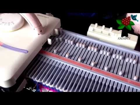 How to knit a Tuck stitch swatch on the lk150 knitting machine - YouTube