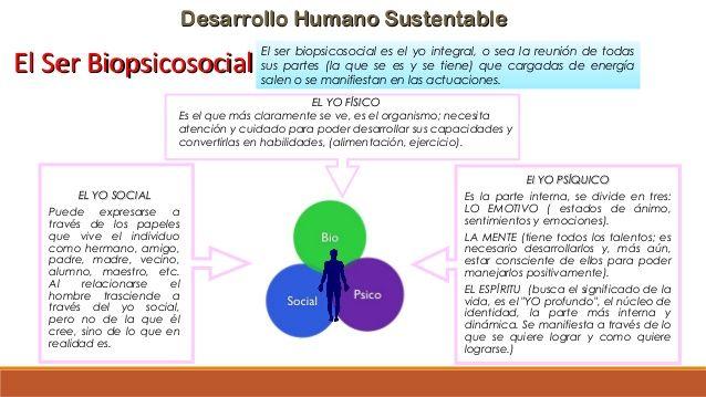 Desarrollo Humano SustentableDesarrollo Humano Sustentable El Ser BiopsicosocialEl Ser Biopsicosocial El ser biopsicosocia...