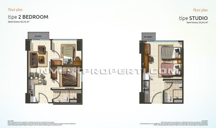 Tipe Unit Apartemen Summarecon Bekasi ( The SpringLake View)