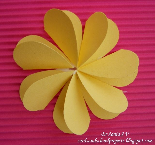 89 best flowers images on pinterest fabric flowers paper flowers cards crafts kids projects flat folding heart punch flower tutorial mightylinksfo