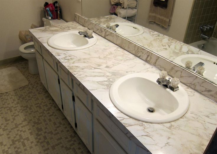 White Bathroom Countertops