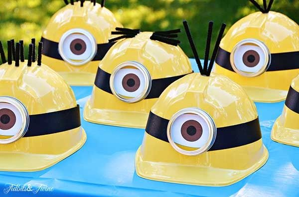 Love this tutorial for make your own Minion party hat decorations   Tidbits and Twine