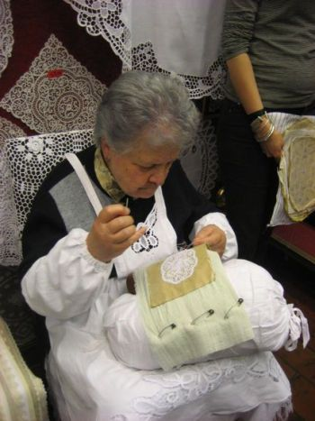 Watching traditional Burano Lace making on my dream vacation - thanks #monogramsvacation and Budget Travel