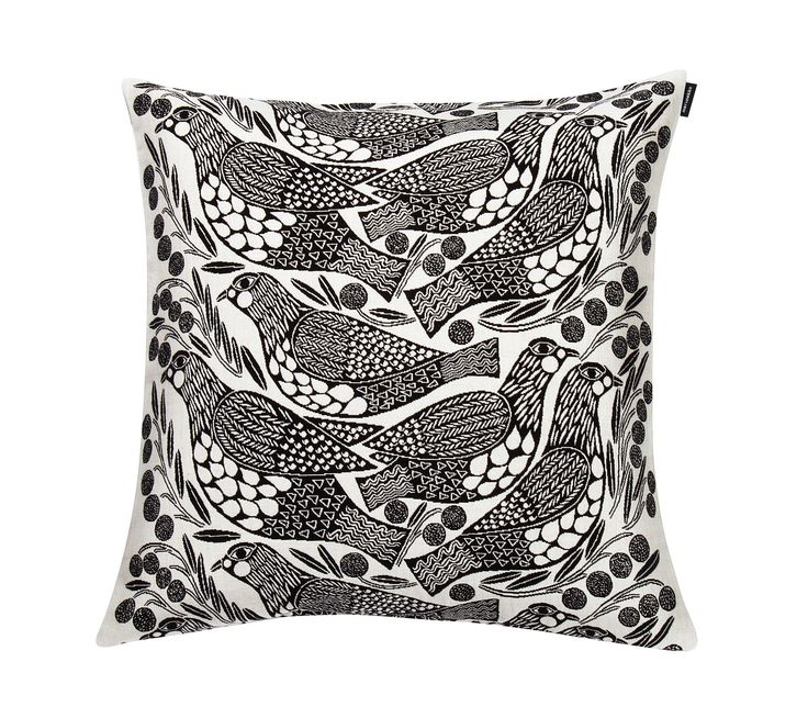 Kiiruna cushion cover 45x45cm - white, black - New in - Home - Marimekko.com