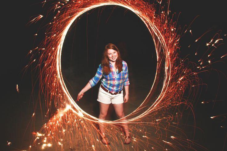 senior, senior pictures, senior portraits, fireworks, sparklers