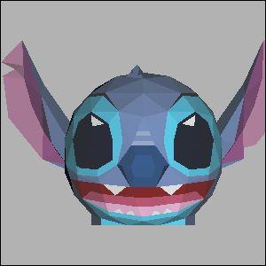 スティッチの展開図 似顔絵 無料 ダウンロード ペーパークラフトファン