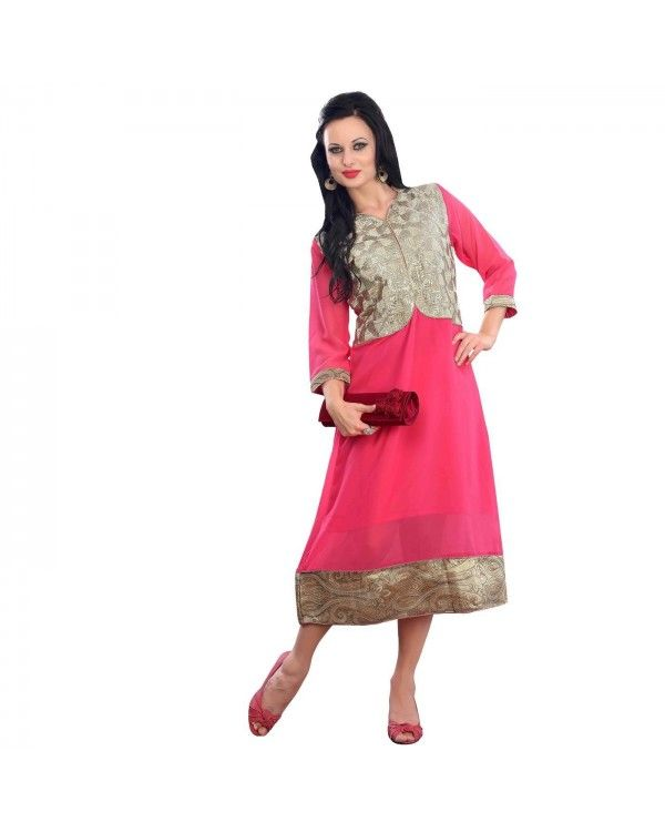 Pink Embroidered Kurti Just @Rs.1,788 55% OFF  To Buy Click Below:- http://www.ethnicstation.com/pink-embroidered-kurti-rc5601  #EmbroideredKurti #EthnicWear