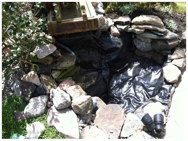 50 best images about fish pond repair on pinterest read for Koi pond liner