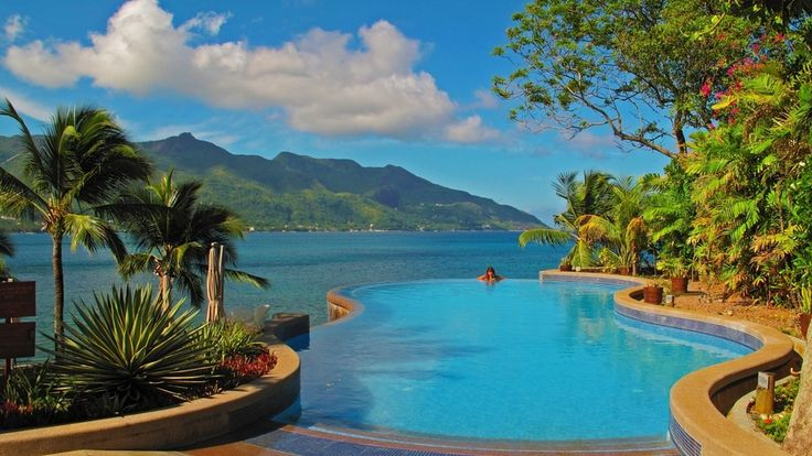 pool, resort, Seychelles, tropics, Infinite Pool Seychelles Resort