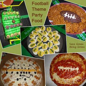 Save Green Being Green: Football Theme Birthday Party