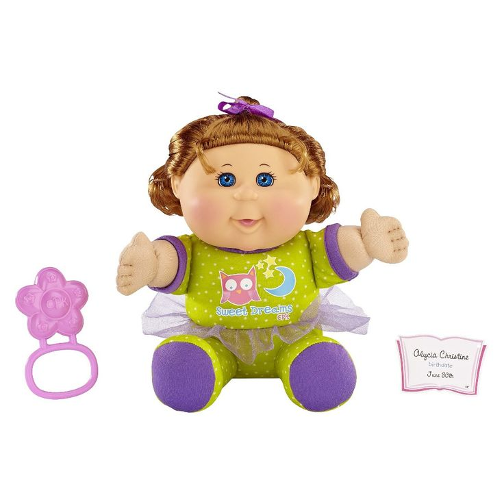 Cabbage Patch Kids Toddler Girl With Red Hair And Green
