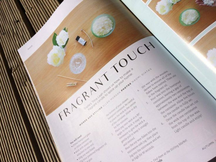 Throw back to Adelaide Hills Magazine Autumn 2016 edition, where we featured in the 'make' section of the magazine, demonstrating how to create soy wax candles. Thanks to New Style Media for this opportunity x