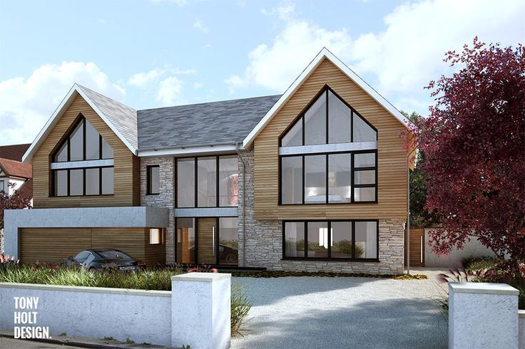 Contemporary Chalet Bungalow Conversion By La Hally: 71 Best Bungalow Extensions & Modern Make-overs UK Images