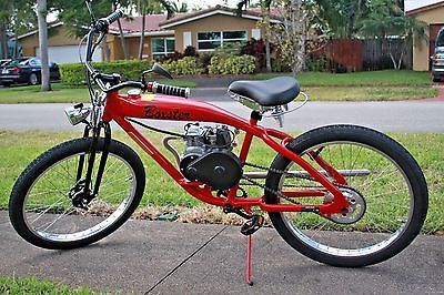 Motorized Gas Powered Bicycle with 49cc Huasheng 4-Stroke Red - Ready to Run