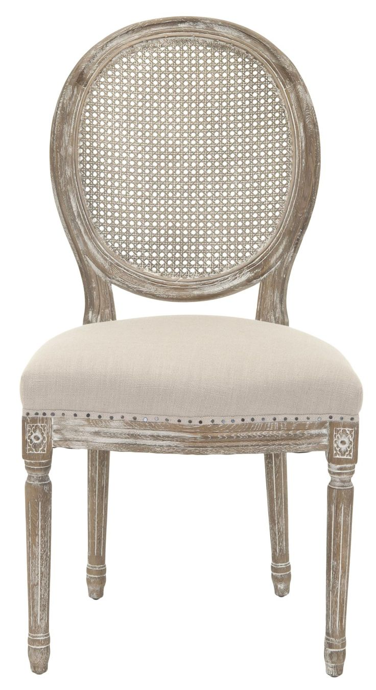 Safavieh Furniture MCR4547A-set2 - Vintage French charm infuses the romantic Lehana oak side chair. This set of two classic Louis XVI inspired dining chairs, featuring round cane backs and n