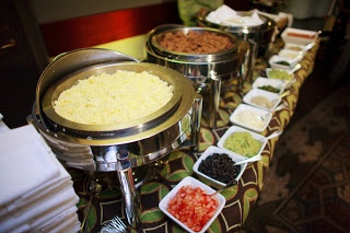 Breakfast burrito bar--tell your story with food