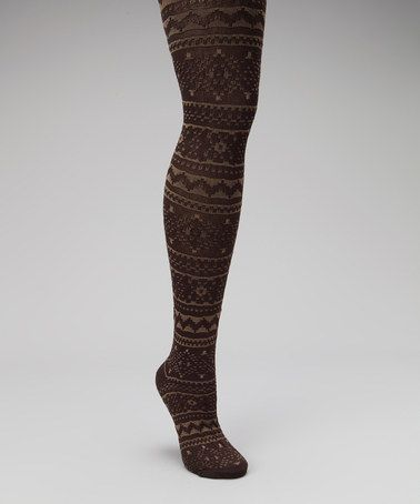 Take a look at this Camel & Java Tights - Women by MUK LUKS on #zulily today!