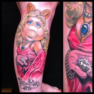 Miss Piggy Tattoo Nipple Tattoo Ideas Pinterest Tattoo Tatting And Tattoo Portrait