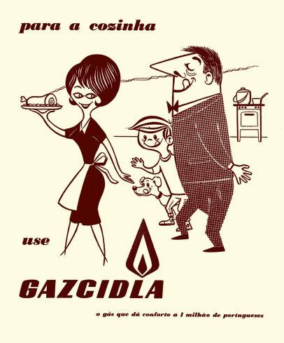 Gazcidla advertising, 1960s