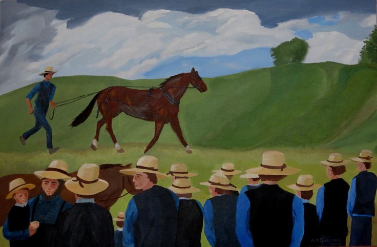 The Horse Auction - Old Order Amish Mennonite horse auction in rural Ontario