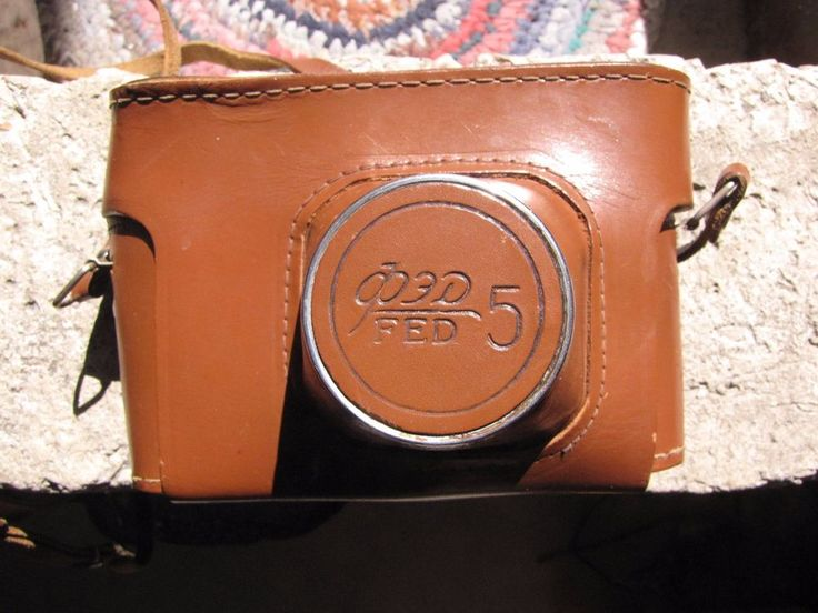 Russia history USSR photo camera FED 5 Moscow 1980 olympics games leather box