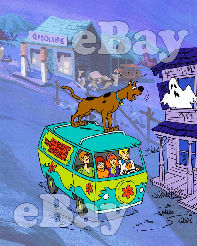 SCOOBY DOO Cartoon Color TV Photo HANNA BARBERA Studios COLORING BOOK ART