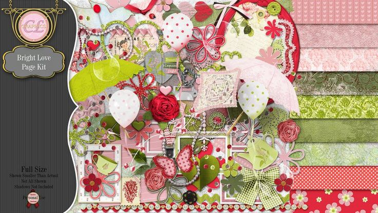 CLGraphics Bright Love Page Kit