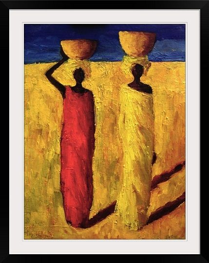 Calabash girls 1991 oil on canvas by tilly willis take
