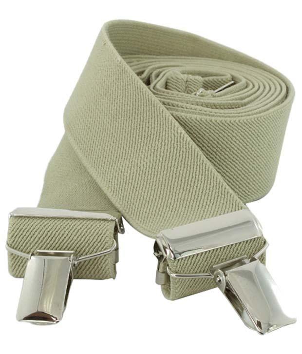 Orosilber Dark Gray Micro Fibre Suspenders For Men