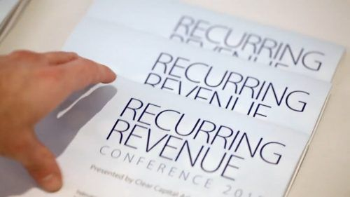 Annuity services, payment for project delivery and pay-per-use are just a few revenue types that can boost your recurring revenue.