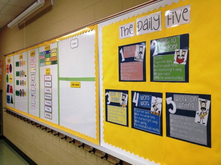 Daily 5 board...totally going to do this! Such a good idea.