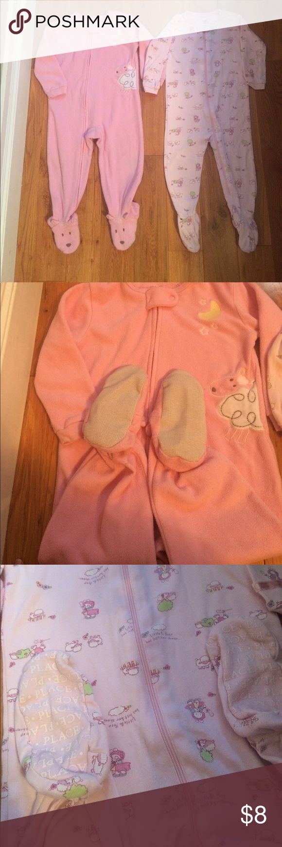 Girls sheep onesie PJs, 18mo Girls sheep onesie PJs, 18mo Pajamas Pajama Sets