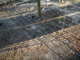 Fence to keep dogs in. (And others out) Install this at the base of your Fence, cover with top soil or your Berm if you irrigate. My dogs are good diggers.