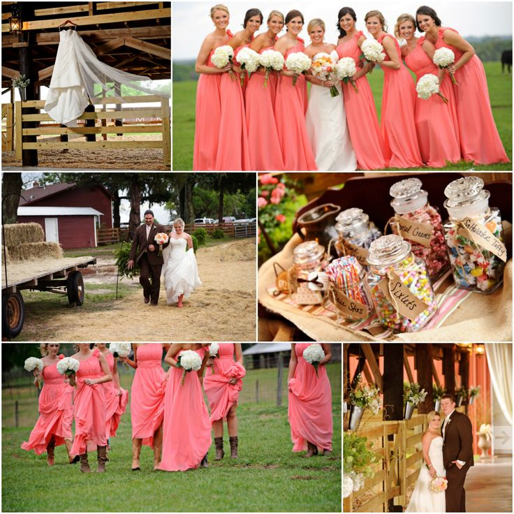 17 Best Ideas About Coral Country Weddings On Pinterest