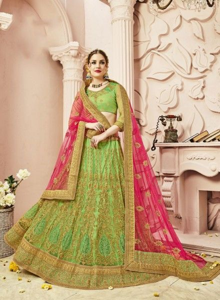 https://www.gravity-fashion.com/green-wedding-wear-punjabi-style-a-line-lehenga-choli-in-net-g17246.html