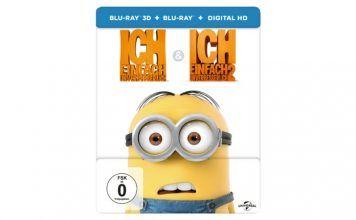 [Angebot] Ich  Einfach Unverbesserlich 1&2 (SteelBook Media Markt Exclusiv) [3D Blu-ray] für 19