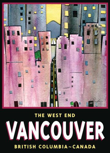 Artist: BC Collection Travel Series, Title: The West End, Vancouver - click for larger image