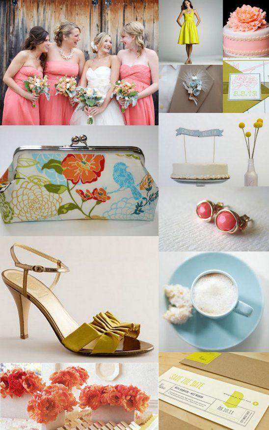 Summer Wedding Colors Inspiration