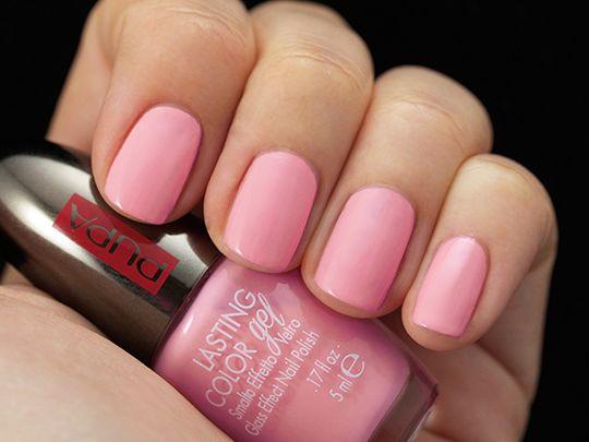 #lastingcolorgel #naillook #smalto #nailpolish 124 Smoothie Pink