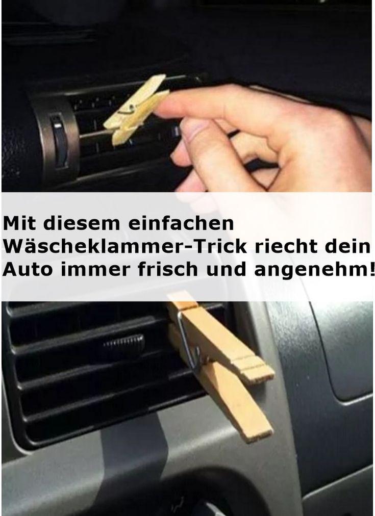 Mit diesem einfachen Wäscheklammer-Trick riecht dein Auto immer frisch und ange…