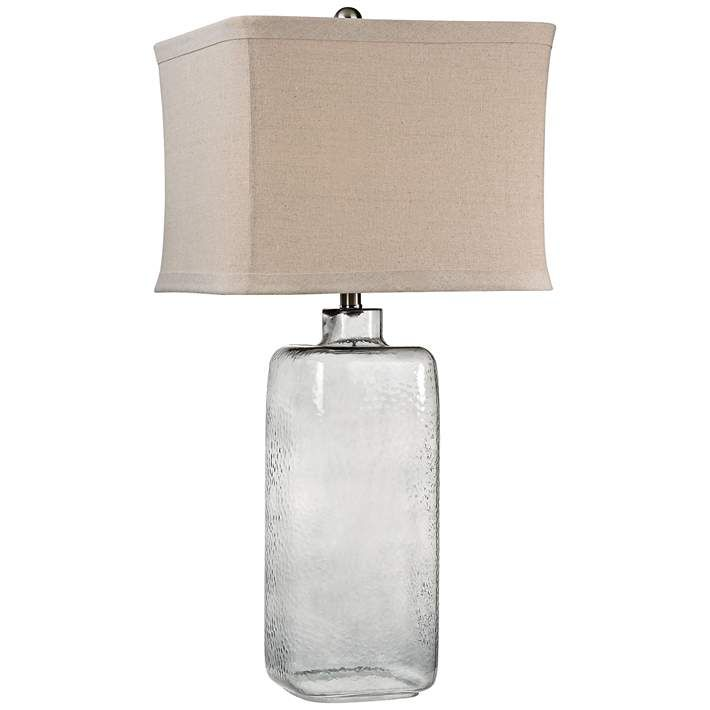 Dimond Franklin Hammered Gray Clear Glass Table Lamp - #9W600 | Lamps Plus