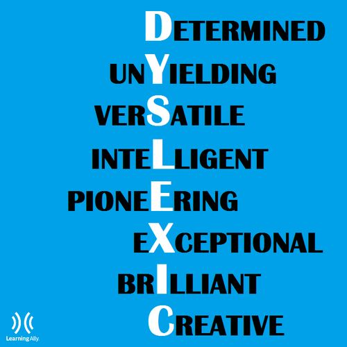 Nice list of positive characteristics typically demonstrated by people who have dyslexia. By Learning Ally