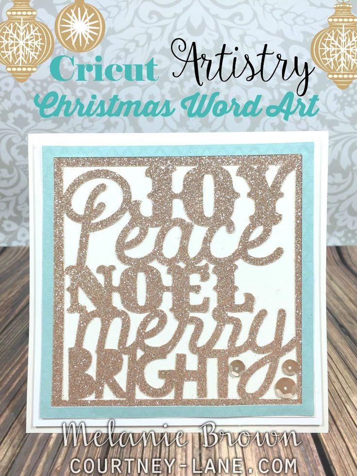 Cricut Artistry Christmas Word Art card