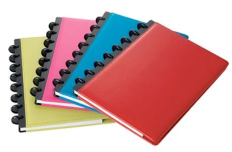 Arc Notebook from Staples:)  I love these...I'd like a big blue or pink leather notebook and also another Junior size to make a recipe book with :)